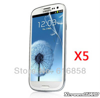 5x Clear Screen Protector Guard Film Cover Skin for Samsung Galaxy SIII S3 i9300 T999 i535 L710