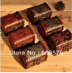 Vintage style wooden jewelry box storage box 12style 12Pcs/lot FreeShipping(China (Mainland))