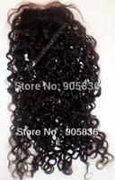 "Silk top black tight kinky curly  virgin  hair lace closure 4""*4"""