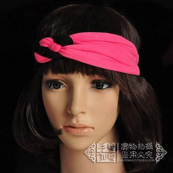 Handmade wrap rose red cross black hairband fashion women street point bohemia headband bandanas free shipping