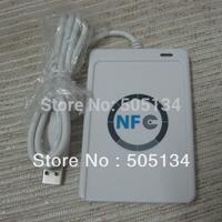 Free shipping New USB Full Speed ACS ACR122U NFC RFID Contactless Smart Card Reader/Write + 5pcs PVC 3M Glue 25.Dia NFC S50 Tags