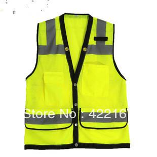 Safety Vest Reflective Vest-Lime Orange  S M L  reflective vest  reflective safty clothing