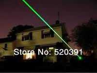 Wholesale - 2000mw/2w 532nm green laser pointers adjustable burn matches / broken balloons+key