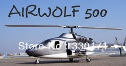 Brand New Airwolf 500 Scale Fuselage 500 size Scale Body - Black RC fuselage+FREE Shipping by EMS(China (Mainland))