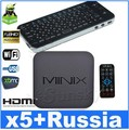 KP-810-16A ( Russian & English) and MINIX NEO X5 RK3066 Dual Core Cortex A9 Google Android TV Box Bluetooth HDMI 1GB/16GB