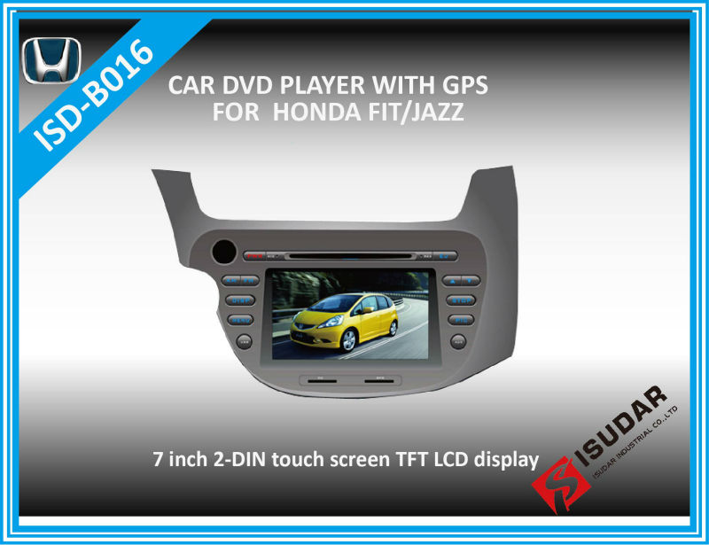 HD 7 Inch Car DVD For HONDA FIT+JAZZ 2007 With PIP+GPS+Bluetooth+TV+Free Map+Free Shipping, 3G is optional(China (Mainland))