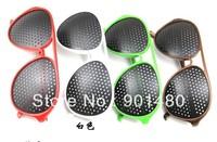 Wholesale - free ship Unisex Eyesight Vision Improve Pinhole Glasses Eyes Exercise Eyes nursing