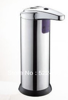 Free Shipping 250ML Stainless steel Freeding Standing Automatic Liquid Soap Dispenser/Kitchen Bathroom Automatic Soap Dispenser