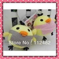 Free shipping Rilakkuma yellow chicken 6cm mix 100pcs/lot plush toy pendant