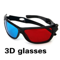 Free Shipping Red Blue Plasma TV Movie Dimensional Anaglyph Framed 3D Vision Glasses