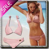 Free shipping/Women's Bikinis/push up knot Women's Bikini Swimwear swimsuit VS pink Strappy Sexy Women swimming suit beachwear
