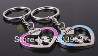 free shipAlloy couple in love keychain creative couple lovers key ring advertising gift keychain can custom logo