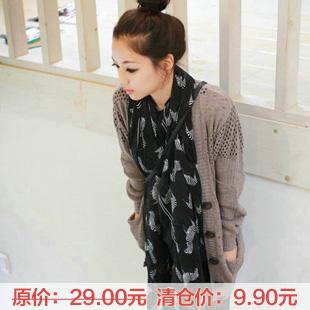 Zebra print decoration silk scarf Women scarf(China (Mainland))