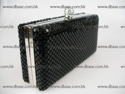 1468 Black Aluminum mesh Lady Fashion Evening Bridal Party Night clutch purse handbag bag metal box IN FREE SHIPMENT(Hong Kong)