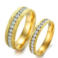 Anniversary Gold Wedding Rings PairTitanium Steel Gold Filled Plated Couple Party Luxury Jewelry For Women Male Anel De Ouro