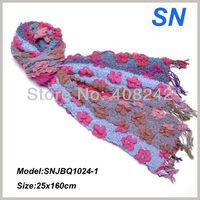 Floral pattern Ruffle Bubble scarve