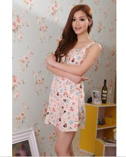 Cheap price 2013 summer women&#39;s sleepwear sleeveness silk Harness Lingerie sweet style night gowns 4 colors(China (Mainland))