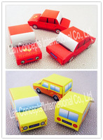 Free shipping DIY Wedding Car shaped Candy Box Party Favor Packing - 120pcs/lot LWB0295A red