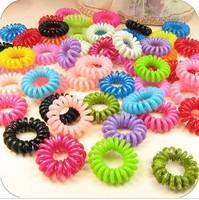 New Arrival Wholesale 1000pcs/lot Women Fashion Telephone Line Elastic Hair Band /Hair Ring/Hair Ties,Hair Accesories