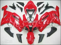 K452 Red Black Full Fairing for KAWASAKI Ninja ZX6R 07 08 ZX6R 2007 2008 ZX 6R ZX-6R 636 2007-2008