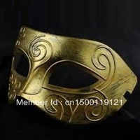 Mens Masquerade Greek Roman Facial Mask For Fancy Dress Costume Mask Gold free shipping