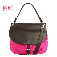 2013 New TMC Women Fashion Patchwork Color Handbag Ladies Rhombus Cowhide Handbag Joker Hobo Totes Bag YL279
