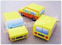 Free shipping DIY Wedding Car shaped Candy Box Party Favor Packing - 120pcs/lot LWB0295B yellow