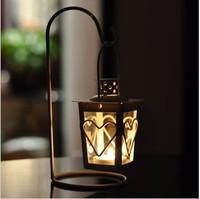 Romantic Elegance Classical Iron loving heart Candle Holders Zakka Storm Lantern Wedding Home Decoration