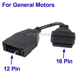 12 Pin to 16 Pin OBD 2 Diagnostic Cable for General Motors(China (Mainland))