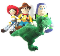 Wholesale Toy Story 14'' 4 characters A Set Plush Toys Woody Jessie Buzz Dragon Rex Xmas Gifts Free Shipping