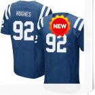 Men's Indianapolis #92 Jerry Hughes Elite Jersey,Royal Blue,White, Free shipping(China (Mainland))