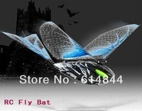 free shipping-2pcs/lot smallest RC car aircraft RC Bat r/c Ornithopter rc flying bird novelty item/Creat show
