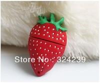 Wholesale Hot Cheap Enough Cartoon Strawberry Model  USB 2.0 Flash Memory Stick Drive