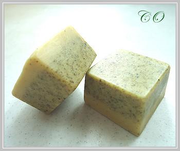 Green bean mud plants natural handmade soap essential oil soap art soap 15g small-sample