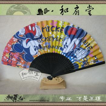 Cartoon fan folding fan for MICKEY MINNIE  2pcs/lot