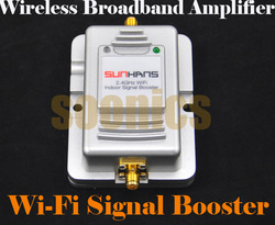 2W Wifi Wireless Broadband Amplifier Router 2.4Ghz Power Range Signal Booster Free Shipping & Drop Shipping(China (Mainland))