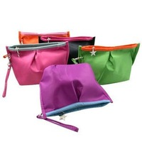 cheapest  Canvas  Zipper Cosmetic Case Bag Makeup Purse free shipping