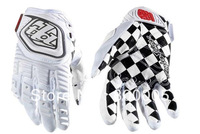 No3803 2013 Newest Troy Lee Designs GP Grand TLD racing Gloves bicycle bike cycling fullfinger motorcross glove white