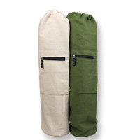 Ladies canvas  yoga bag / yoga mat  backpack /yoga mat tote men's bag / exercise backpack sports mat for men