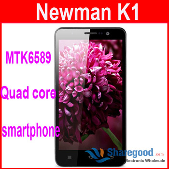 Free shipping Original Newman K1 MTK6589 Quad Core 1.2GHz Android 4.2 5.0 Inch HD IPS 1280 x 720 Pixels 8.0MP Camera In stock !!