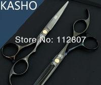 KASHO barber/ hair scissor scissors kit, flat cut teeth,cutting teeth ,5.5 inch,great quality,Drop shipping