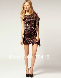 DL153 new coming fashion women's draped mini party dress(China (Mainland))