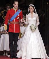 William wedding dress costume , royal formal dress