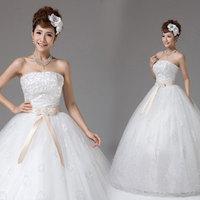 Wedding dress 2013 princess sweet new arrival tube top dress paillette puff skirt
