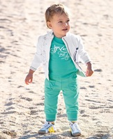 Fress shipping  5pcs/lot 2013 baby clothing sets Handsome boy Western style suit three-piece coat jacket + T-shirt + pants