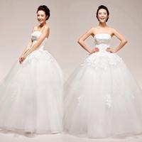 Puff skirt wedding dress lace decoration wedding dress tube top wedding dress
