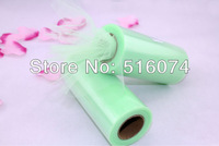 """Free Shipping Brand New Light green Tulle Roll Spool 6""""x25YD Tutu Wedding Party Gift Bow Craft Banquet Decoration Favor"""