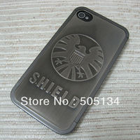 New Deluxe 3D Hero The Avengers Shield Captain America Lightning The Flash Chrome Plastic Hard Case Cover for iPhone 4 4S 4G