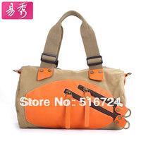 Large capacity shoulder bag women's handbag color block canvas messenger bag casual women's cross-body bags