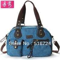 Free shipping Canvas bag 2013 women's handbag  shoulder bag messenger bag casual bag